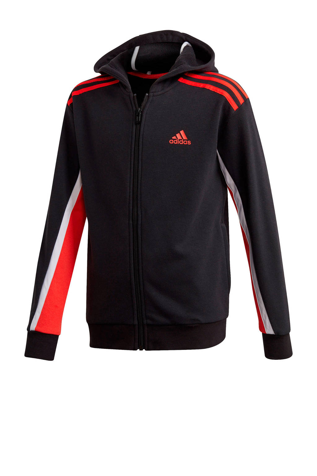 adidas Performance   sportvest zwart/rood, Zwart/rood