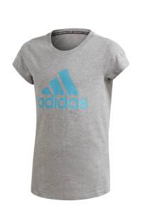 adidas Performance sport T-shirt grijs/blauw, Grijs/blauw