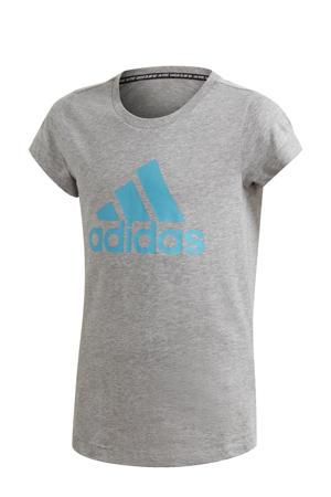 sport T-shirt grijs/blauw