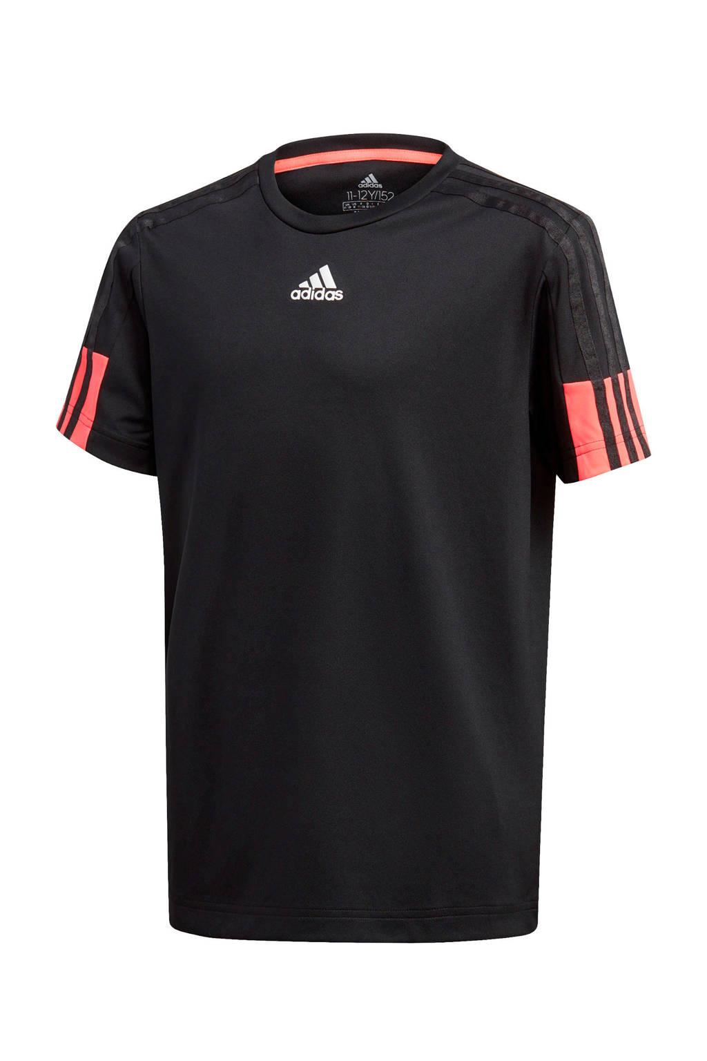 adidas Performance   sport T-shirt zwart/rood, Zwart/rood