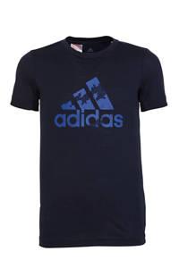 adidas Performance   sport T-shirt donkerblauw, Donkerblauw/blauw