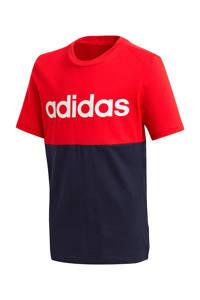 adidas Performance   sport T-shirt rood/zwart, Rood/zwart