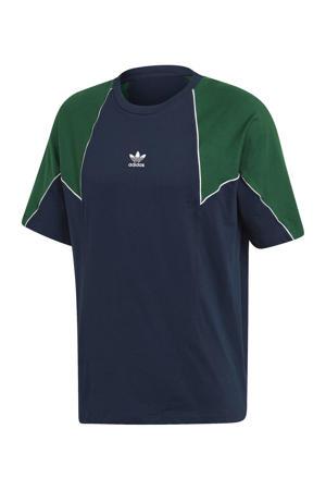T-shirt donkerblauw/groen
