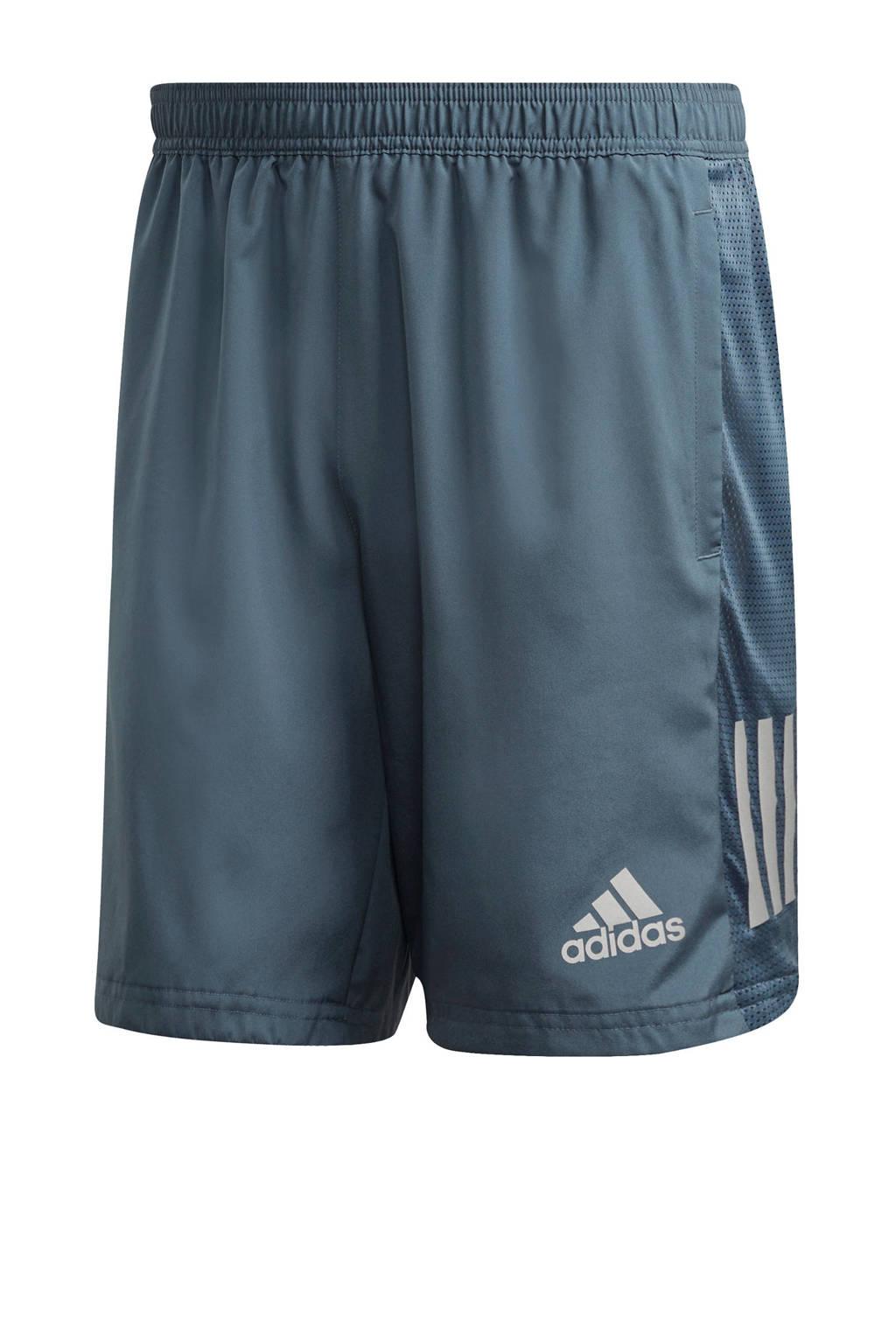 adidas Performance   hardloopshort blauw/grijs, Blauw/grijs