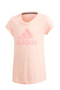 adidas Performance sport T-shirt lichtroze, Lichtroze