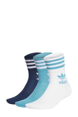 sokken - set van 3 blauw/lichtblauw/wit