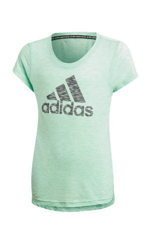 sport T-shirt mintgroen/grijs