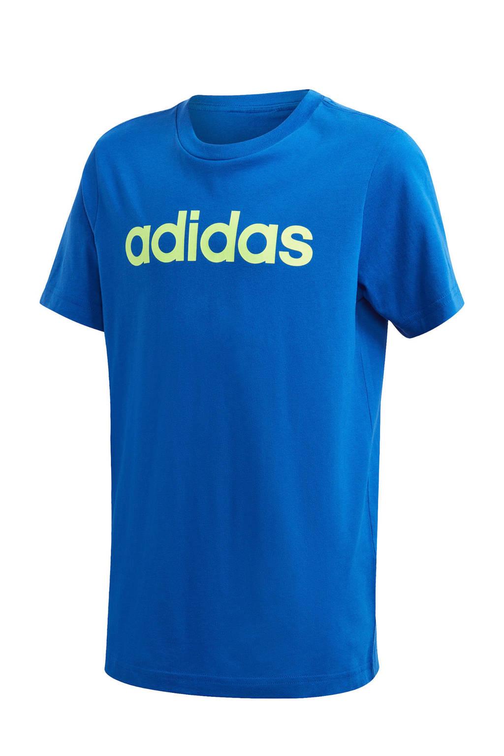 adidas Performance   sport T-shirt blauw/groen, Blauw/groen