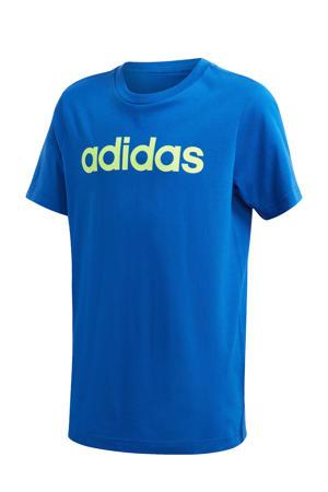 sport T-shirt blauw/groen