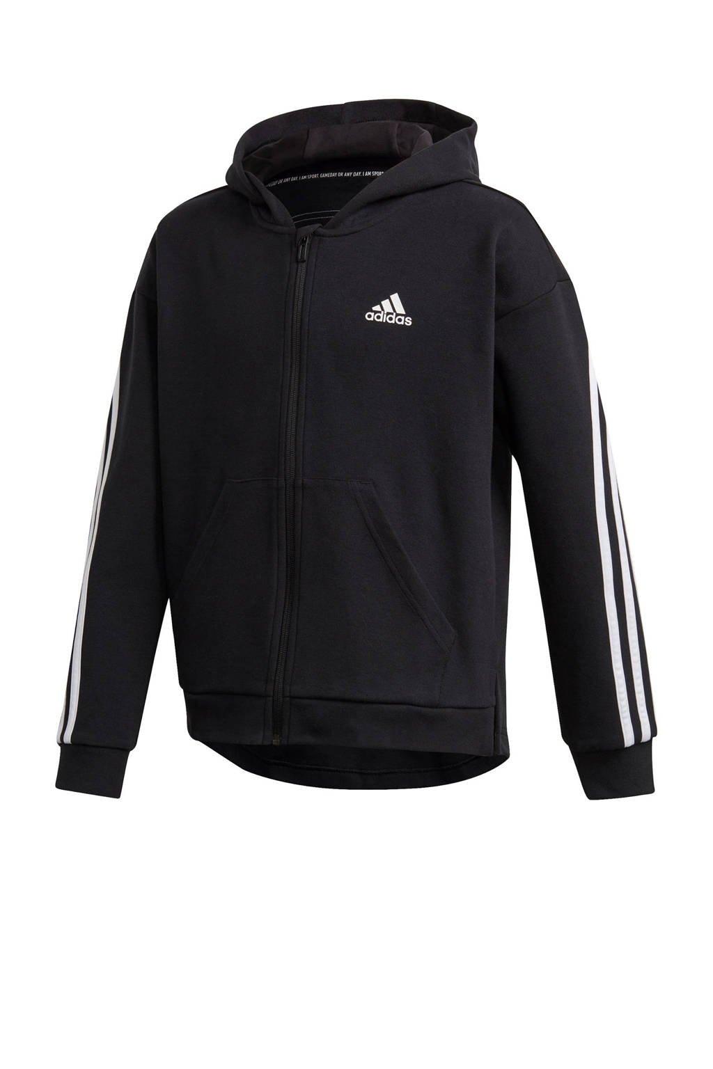 adidas Performance sportvest zwart/wit, Zwart/wit