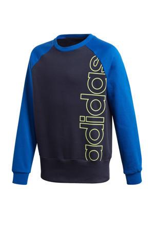 sportsweater donkerblauw/blauw
