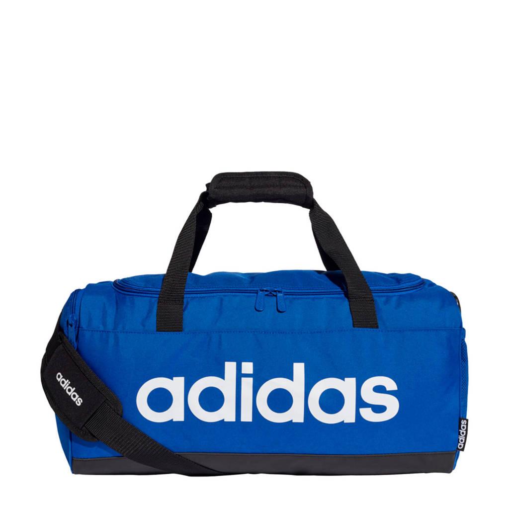 adidas Performance   Linear Duffel S sporttas kobaltblauw/zwart/wit, Kobaltblauw/zwart/wit