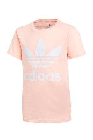 T-shirt lichtroze/wit