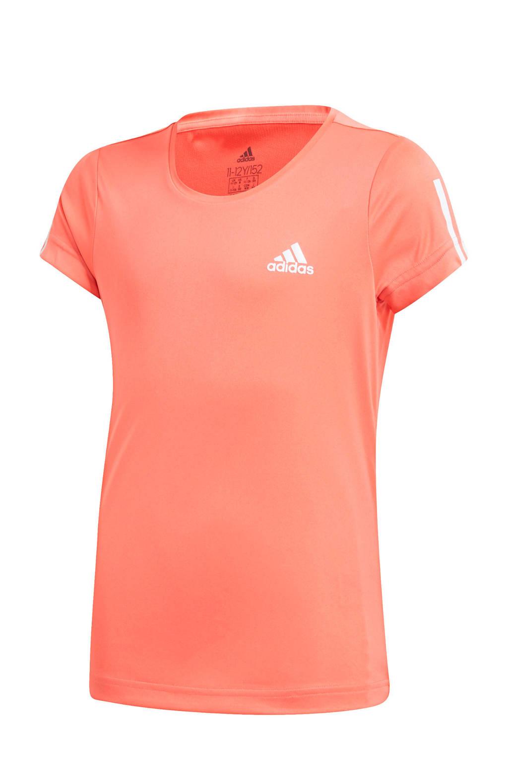 adidas Performance sport T-shirt koraalrood, Koraalrood
