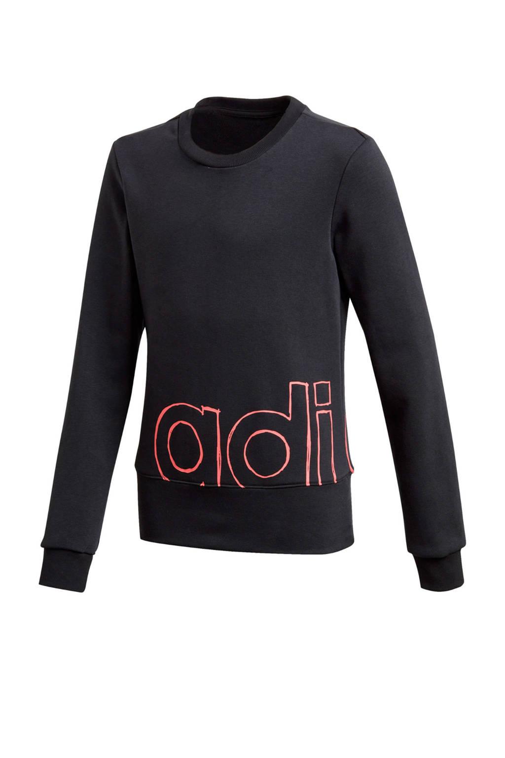 adidas Performance sportsweater zwart/roze, Zwart/roze