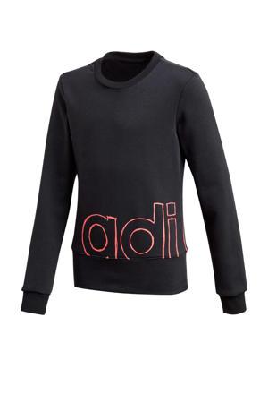 sportsweater zwart/roze