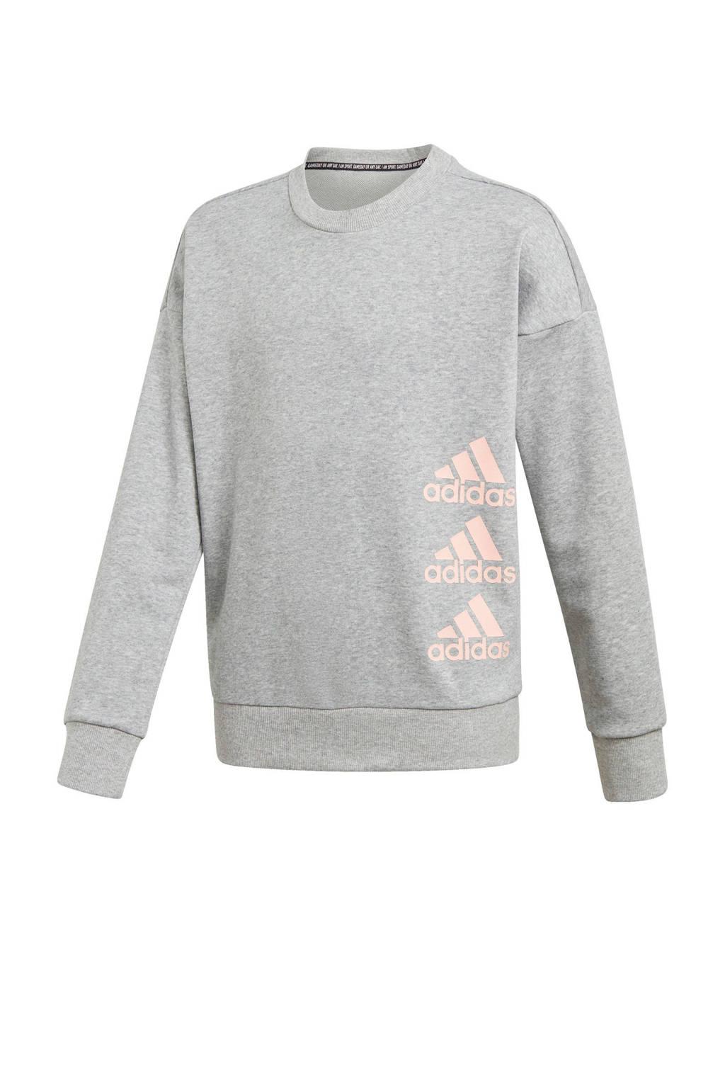adidas Performance sportsweater lichtgrijs, Lichtgrijs