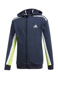 adidas Performance   sportvest donkerblauw/wit/lime, Donkerblauw/wit/lime