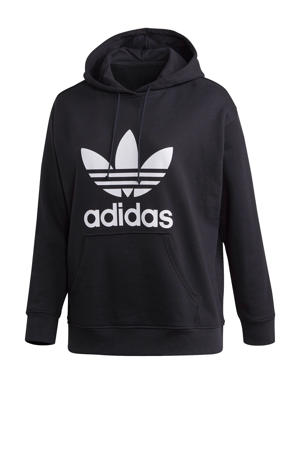 plus size Adicolor hoodie zwart