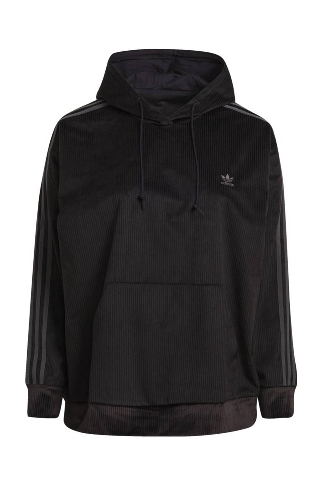 adidas Originals Plus Size Corduroy hoodie zwart, Zwart
