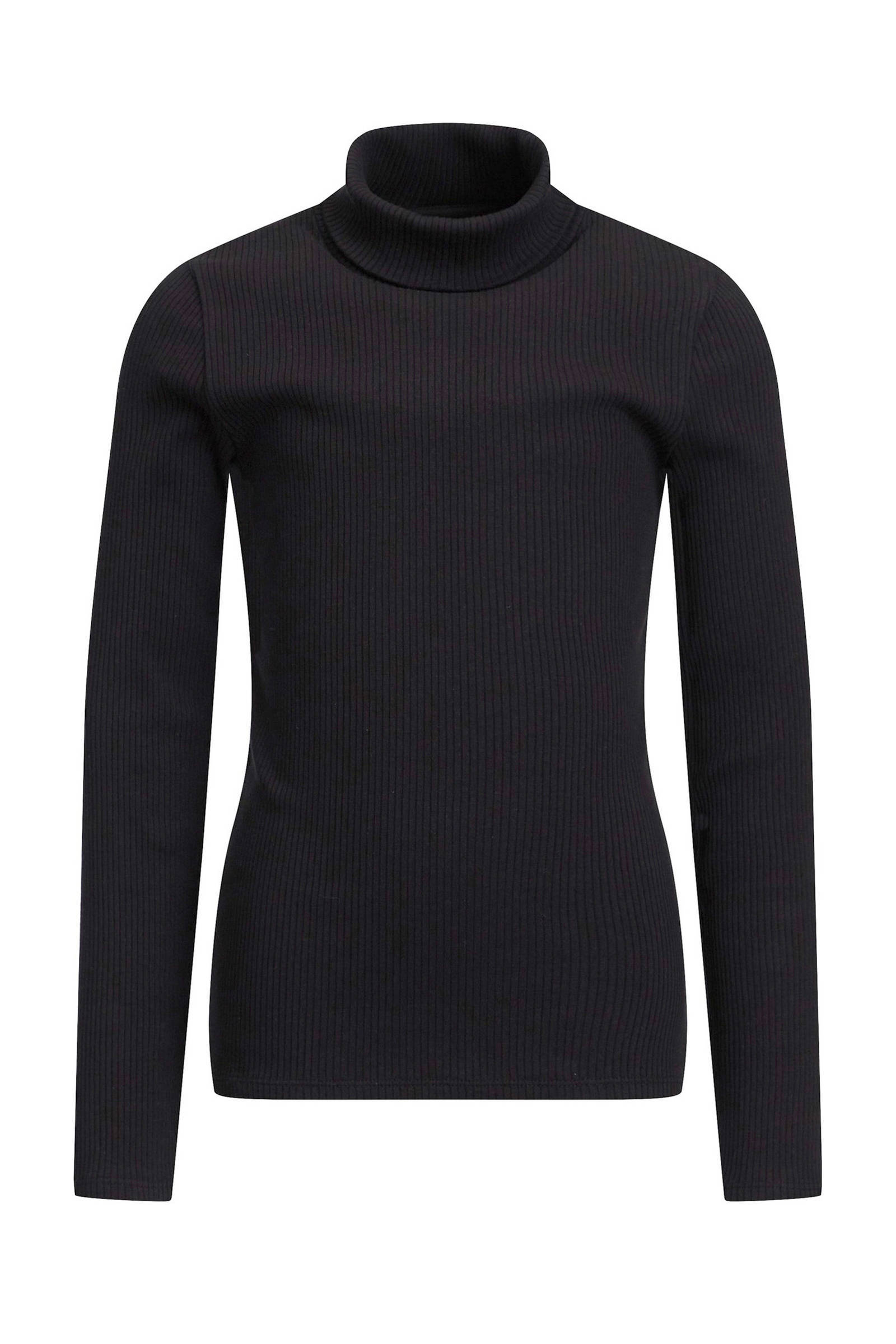 WE Fashion ribgebreide trui zwart | wehkamp
