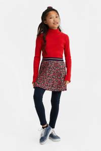 WE Fashion ribgebreide longsleeve Myla rood, Rood