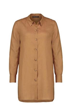 linnen blouse bruin