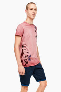 Q/S designed by T-shirt met printopdruk rood, Rood