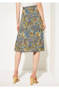 comma rok met all over print geel/blauw, Geel/blauw
