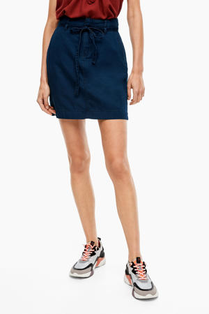 rok met ceintuur dark denim