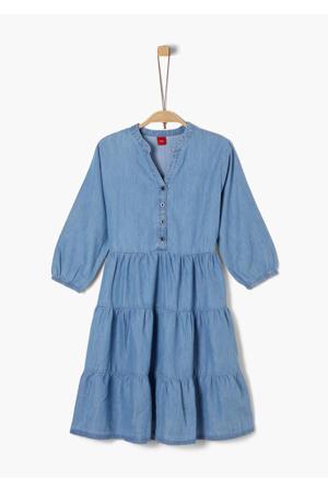 jurk met volant blauw