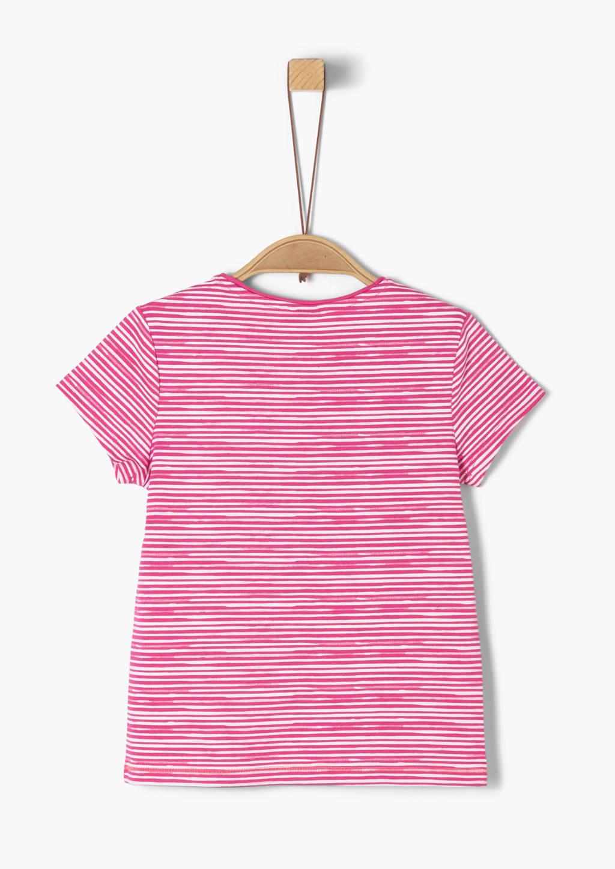 s.Oliver gestreept T-shirt fuchsia, Fuchsia
