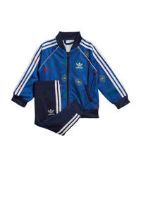 adidas Originals   trainingspak blauw/wit, Blauw/wit