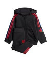 adidas Originals   trainingspak zwart/rood, Zwart/rood