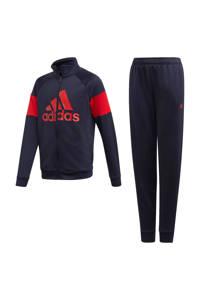 adidas Performance   trainingspak donkerblauw/rood, Donkerblauw/rood