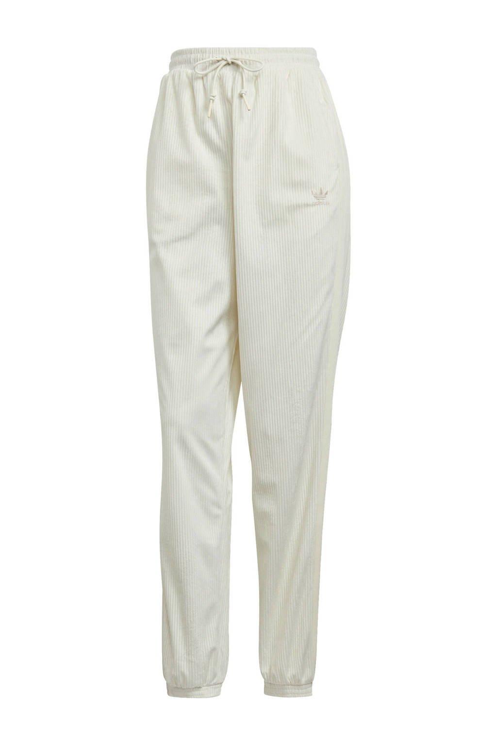 adidas Originals Corduroy joggingbroek gebroken wit, Crème