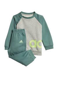 adidas Performance   joggingpak grijs/groen, Grijs/groen, Jongens
