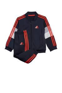 adidas Performance   trainingspak donkerblauw/rood/grijs, Donkerblauw/rood/grijs