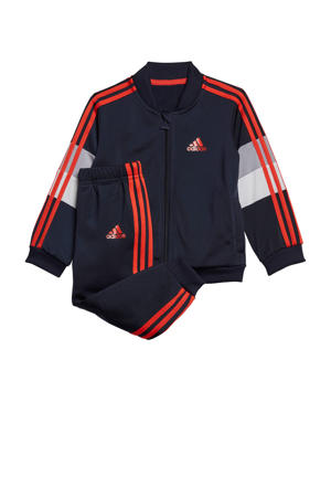 trainingspak donkerblauw/rood/grijs