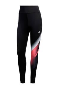 adidas Performance sportbroek zwart/wit/roze, Zwart/wit/roze