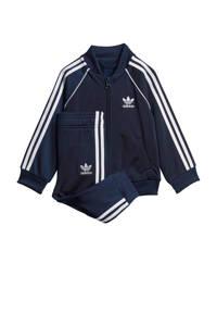 adidas Originals   trainingspak donkerblauw/wit, Donkerblauw/wit