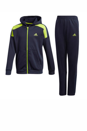 trainingspak donkerblauw/lime