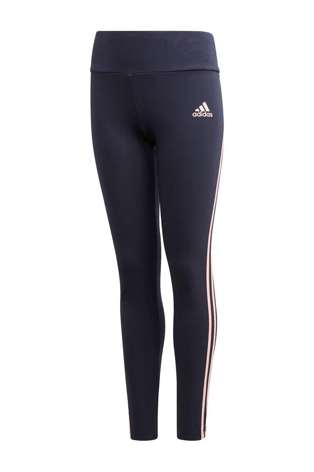 adidas Performance sportbroek donkerblauw/lichtroze, Donkerblauw/lichtroze