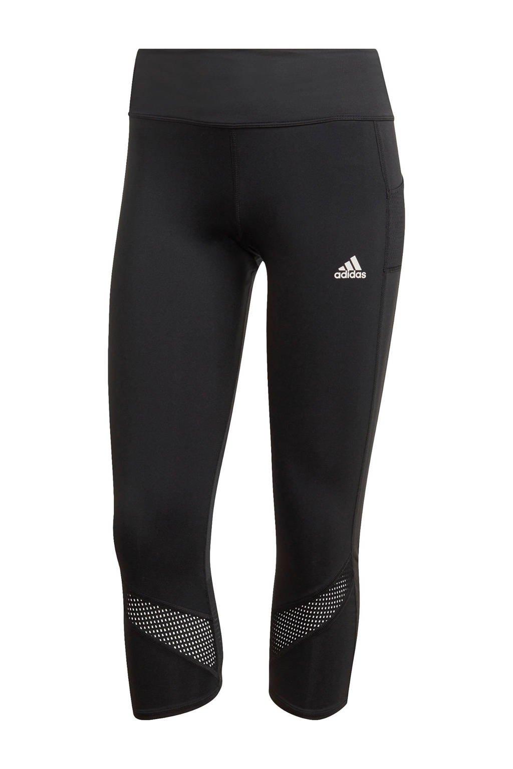 adidas Performance 3/4 hardloopbroek zwart, Zwart