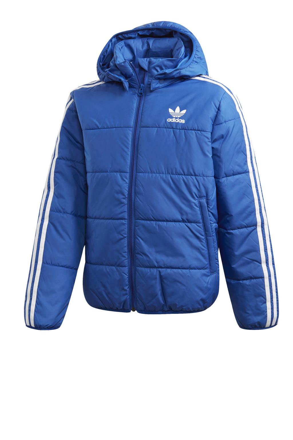 adidas Originals gewatteerd jack blauw/wit, Blauw/wit
