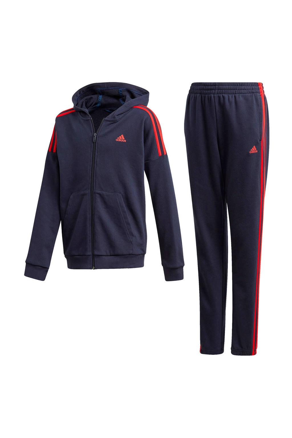 adidas Performance   joggingpak donkerblauw/rood, Donkerblauw/rood