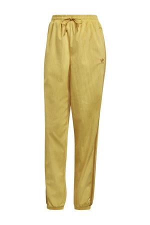 Corduroy joggingbroek geel