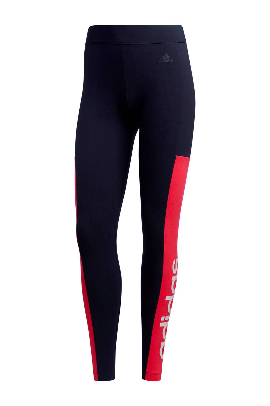 adidas Performance sportbroek donkerblauw/roze, Donkerblauw/roze