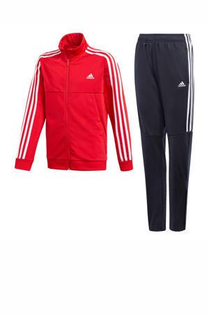 trainingspak donkerblauw/rood
