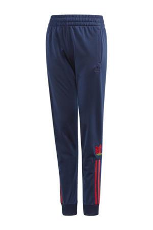 joggingbroek donkerblauw/rood